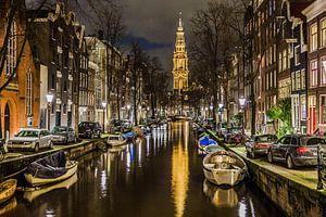 Amsterdam Groenburgwal met Zuiderkerk van