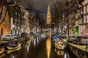 Amsterdam Groenburgwal met Zuiderkerk von