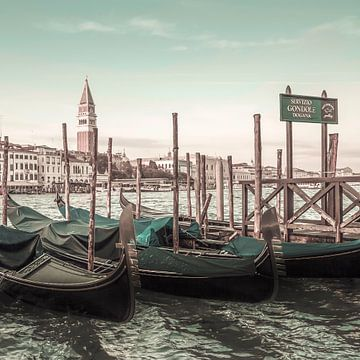 VENICE Grand Canal & Gondels   stedelijke vintage stijl van Melanie Viola