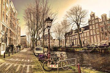 Innenstadt von Amsterdam im Winter Alt von Hendrik-Jan Kornelis