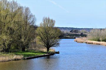 Saskevaart, Oudkarspel, uitzicht vanaf de Saskerbrug van Gerrit Pluister