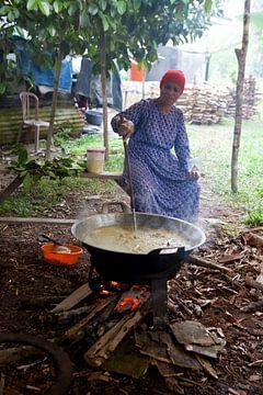 Geboortefeest op Sumatra van Kees van Dun