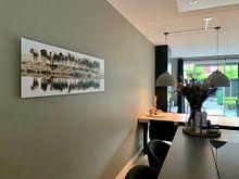 Photo de nos clients: vaches dans une rangée (sépia) - vues à vtwonen sur Annemieke van der Wiel, sur aluminium