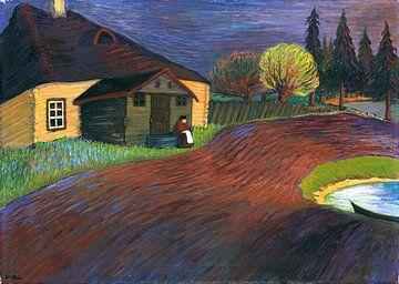 Souvenir, Landschaft mit Frau, MARIANNE VON WEREFKIN, 1907-1908