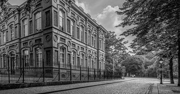 Breda - Schlossplatz KMA - Schwarz und Weiß von I Love Breda