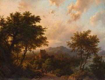 Zonsondergang aan de Rijn, Barend Cornelis Koekkoek sur