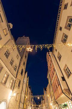 Kerstverlichting in de Wahlenstraße in Regensburg van Robert Ruidl