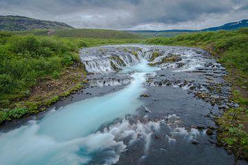 Bruarfoss waterval von Anton Steenbergen