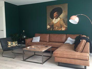 Kundenfoto: Der fröhliche Trinker - Frans Hals