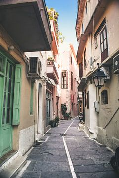 Smalle straatjes in Griekse stad