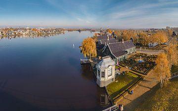 De Zaanse Schans aan de Zaan, Zaandam, Noord-Holland, Nederland van Rene van der Meer
