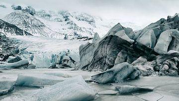 Svínafjellsjökull Gletsjer - IJsland van Gerald Emming