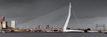 Bewolkte skyline van Rotterdam von Miranda van Hulst