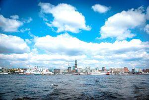 Hamburg: kijk naar de steigers