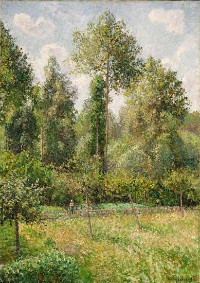 Populieren, Eragny, Camille Pissarro