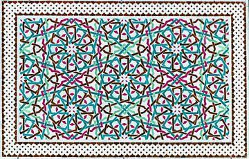 Marokkaans mozaïek, wandpaneel II van