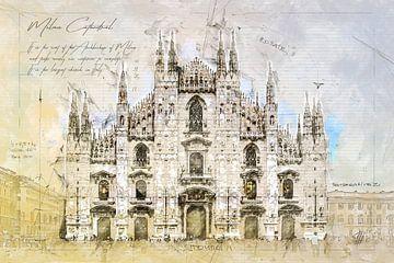 Kathedraal, Milaan van Theodor Decker