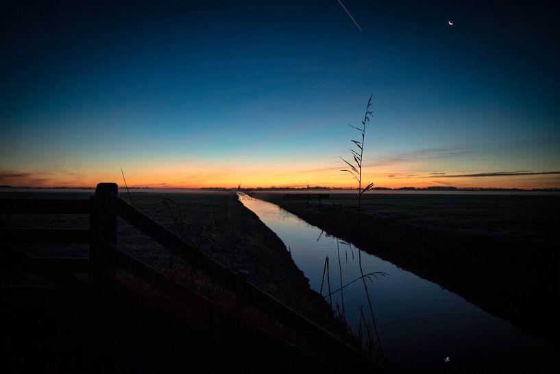 Koude ochtend op Texel van Dick Hooijschuur