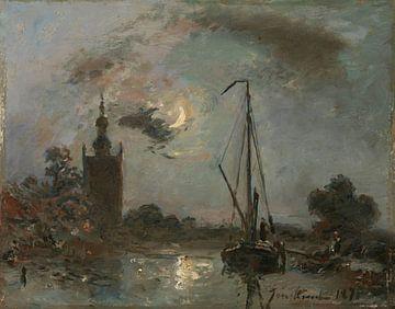 Overschie im Mondschein, Johan Barthold Jongkind