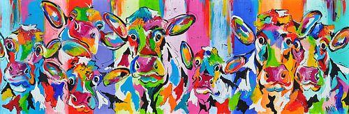 Nieuwsgierige koeien- van Kunstenares Mir Mirthe Kolkman van der Klip