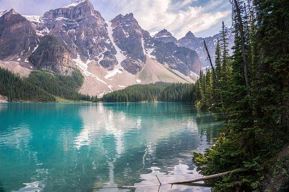 Het wondermooie Moraine Lake
