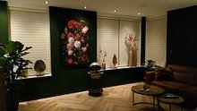 Kundenfoto: Blumenstrauß in einer Glasvase, Jan Davidsz. de Heem, als akustikbild