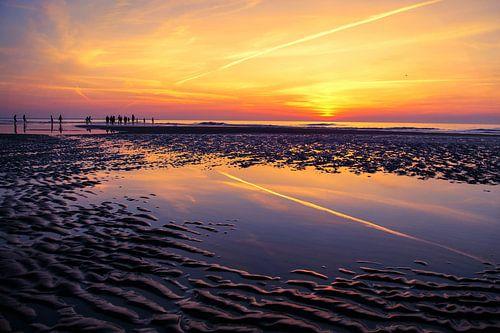 Sonnenuntergang bei Ebbe