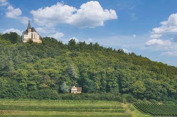 Vue sur la chapelle Sankt-Anna près de Burrweiler, Palatinat sur Peter Eckert