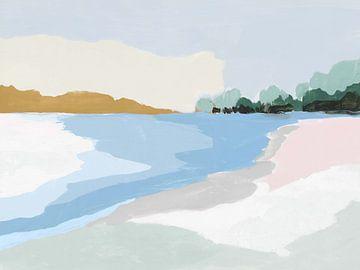Soft Coastal I, Isabelle Z  van PI Creative Art