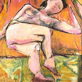 Modèle de femme nue sur Liesbeth Serlie