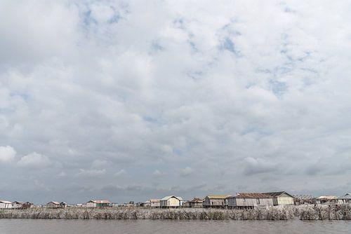 Varen langs paalwoningen in West-Afrika | Benin