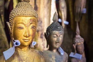 Een boodschap voor Boeddha, tempel in Laos van Rietje Bulthuis