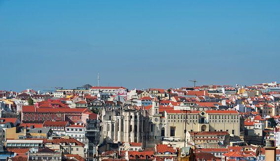 panorama of old  lisbon
