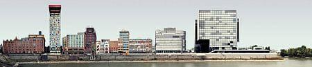 Düsseldorf Medienhafen Panorama