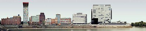 Düsseldorf Medienhafen Panorama van Panorama Streetline