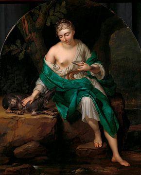 Eine Frau mit einem Hund, Herman van der Mijn