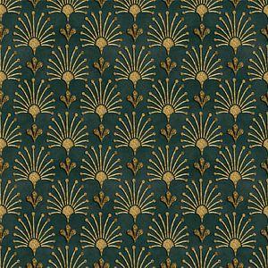 Élégant motif Art déco vert or sur Andrea Haase