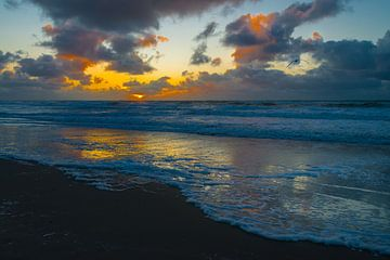 Sonnenuntergang bei De Koog, Texel von Peter Apers