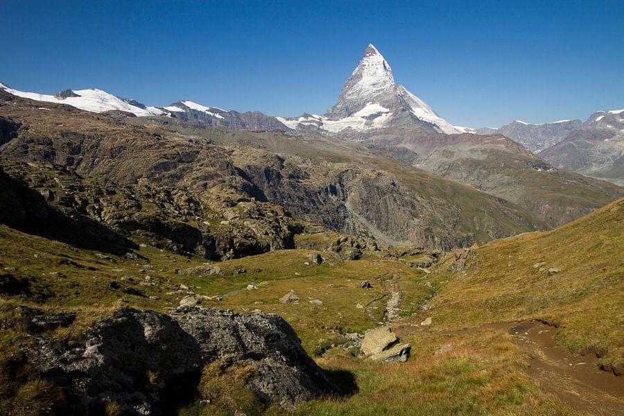 De Matterhorn in het prachtige Zwitserse gebergte