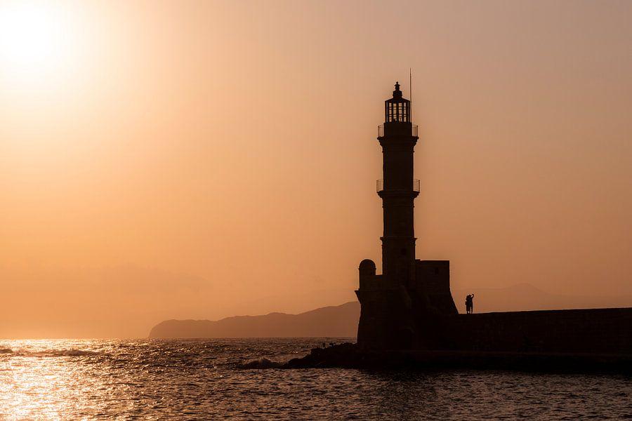 Zonsondergang in Chania