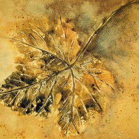 Gouden herfst - Wijnstokblad van Christine Nöhmeier