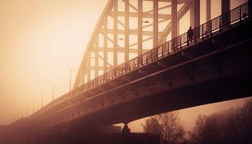 John Frost brug,  Arnhem, zonsondergang van Paul Hemmen