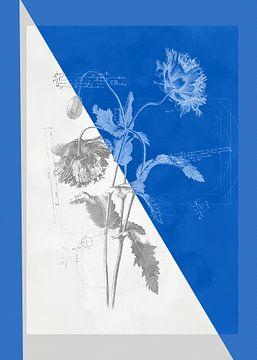 Bloemen in tekenstijl 2 van Ariadna de Raadt
