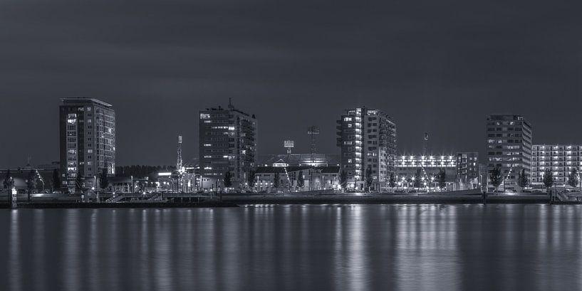 Feyenoord Rotterdam stadium 'De Kuip' at Night - part twelve van Tux Photography