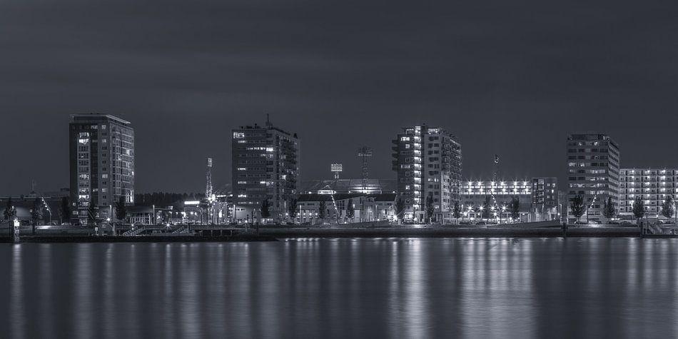 Feyenoord Rotterdam stadium 'De Kuip' at Night - part twelve