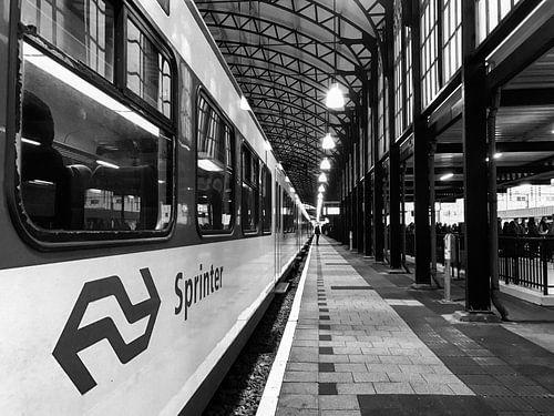 NS Station Den Haag Hollands Spoor | Zwart-wit