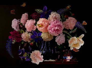 Stilleven 'Rhapsody in pink' van Willy Sengers