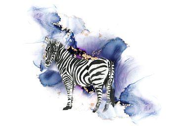 Zebra van Karin Schwarzgruber
