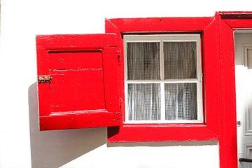 Rotes Fenster, Fensterladen, Cochem, Mosel