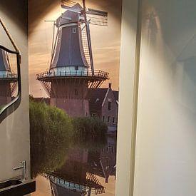 """Kundenfoto: Mühle """"Der Goldene Engel"""" in der Abendsonne von Paul Franke, auf nahtlose tapete"""